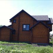 Деревянный дом в Краснодаре вид сзади.
