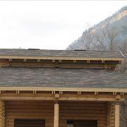 Крыша бани в Хамышках