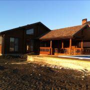 Дом из бруса в Красндаре, вид сбоку