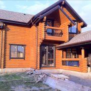Построенный дом из дерева в Старочекасске